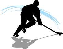 Hockey-Spieler Lizenzfreies Stockfoto