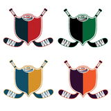 Hockey Sport Crests. Set of Hockey Sport Crests  boys Royalty Free Stock Images