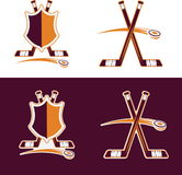 Hockey Sport Crests Stock Image