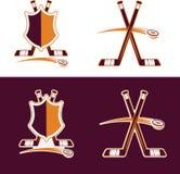 Hockey Sport Crests Stock Image