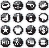 Hockey sport icon set Royalty Free Stock Photography