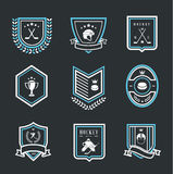 Hockey sport icons. This is file of EPS10 format Stock Photography