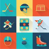 Hockey sport icons Royalty Free Stock Images