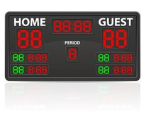 Hockey sports digital scoreboard vector illustration Royalty Free Stock Photos