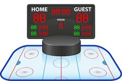Hockey sports digital scoreboard vector illustration Royalty Free Stock Image