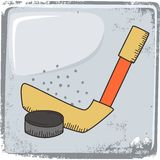 Hockey sports theme Royalty Free Stock Photography
