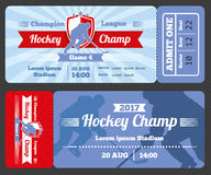 Hockey sports ticket card vector modern design Royalty Free Stock Images