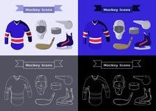 Hockey Sportswear Objects Stock Image