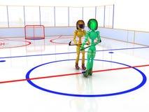 Hockey stadium with hockey  #10 Royalty Free Stock Photo