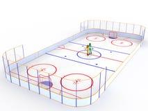 Hockey stadium with hockey  #12 Stock Photography