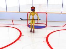 Hockey stadium with hockey #3 Royalty Free Stock Photo