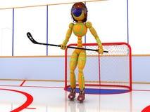 Hockey stadium with hockey #4 Royalty Free Stock Photography