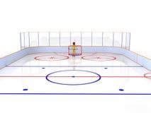 Hockey stadium with hockey #7 Stock Photos