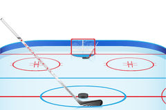 Hockey stadium vector illustration Royalty Free Stock Images