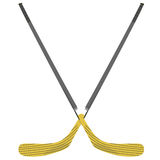 Hockey stick Royalty Free Stock Photo