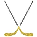 Hockey stick. Vector illustration of a wooden hockey stick Royalty Free Stock Photo