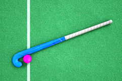 Hockey Stick And Ball Royalty Free Stock Images