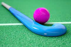 Hockey Stick And Ball Royalty Free Stock Photography