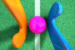 Hockey Stick And Ball Stock Images