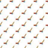 Hockey stick and puck pattern seamless. Hockey stick and puck pattern in cartoon style. Seamless pattern vector illustration Royalty Free Stock Image