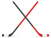 Hockey stick. On a white background Royalty Free Stock Photography