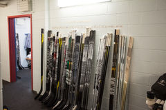 Hockey Sticks stock photo