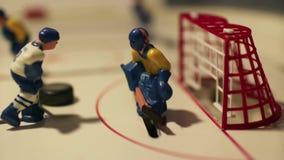 Hockey su ghiaccio di scopo stock footage