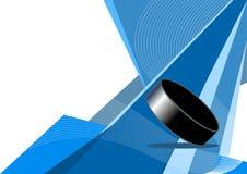 Hockey sur glace, conception abstraite Image libre de droits