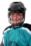 Hockey sur glace de jeu aîné Photographie stock libre de droits