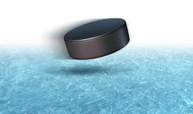 Hockey sur glace Puck Background Photos libres de droits
