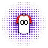 Hockey sweater icon, comics style Stock Images