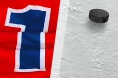 Hockey Sweater and washer Stock Photos