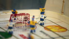 Hockey table game stock video
