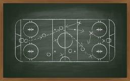 Hockey tactic on board Stock Photo
