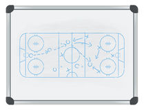 Hockey tactic on whiteboard Stock Image