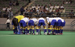 Hockey Team. In the field Stock Photography