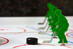 Hockey team. Best hockey team with puck in line Royalty Free Stock Photography