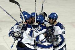 Hockey team celebrating Stock Images