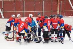 Hockey team Desna Znamensky Royalty Free Stock Images
