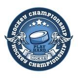 Hockey team logo template. Emblem, logotype Royalty Free Stock Photos