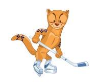 Hockey-Team-Maskottchen lizenzfreie abbildung