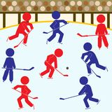 Hockey Teams Icon Set Stock Images