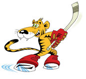 Hockey tigre Royalty Free Stock Photography