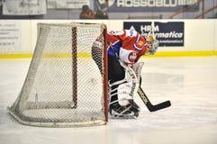 Hockey-Tormann Stockfoto