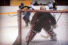 Hockey-Tormann Lizenzfreie Stockfotos