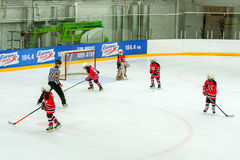 Hockey tournament among children's teams Stock Image