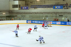 Hockey tournament among children's teams Stock Photo