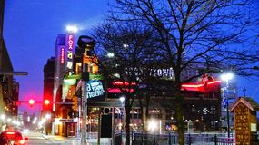 Hockey Town on Woodward stock photography