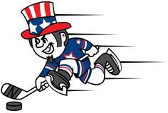 Hockey Uncle Sam Stock Photography
