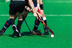 Hockey Unidentified Players Clash Ball Sticks Stock Images